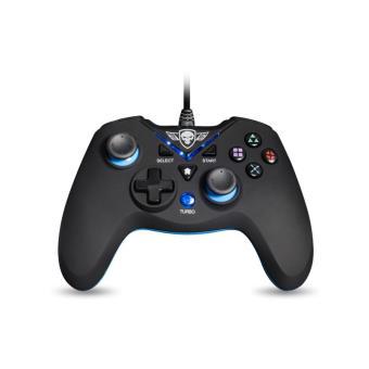 Manette sans fil Spirit of Gamer XPG Noir et Bleu PC et PS3