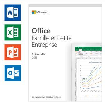 Logiciel Microsoft Office 2019 Famille & Petite Entreprise FR