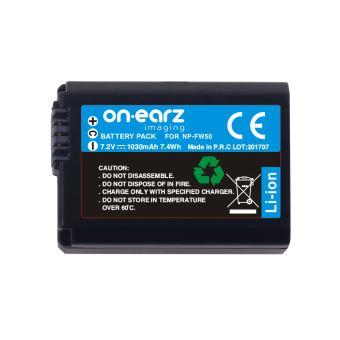 Batterie On.Earz Imaging NP-FW50 7.2 V 1030 mAh Noire