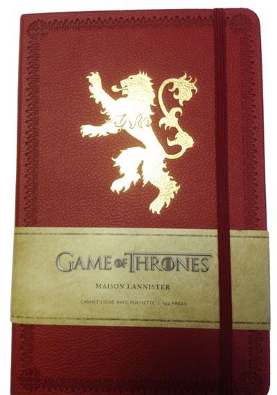 Le trône de fer, carnet de luxe maison Lannister