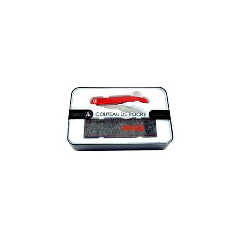 Coffret couteau de poche pliant Tarrerias Bonjean 10020023 Laguiole Evolution , Rouge, Lame Titane