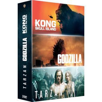 Godzilla/kong/tarzan/coffret