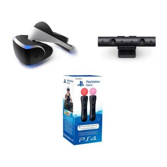 casque de r alit virtuelle sony playstation vr cam ra vr playstation ps4 v2 pack de 2. Black Bedroom Furniture Sets. Home Design Ideas