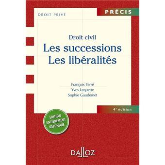 Les Droit Civil Successions Les Liberalites Precis 4eme Edition