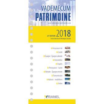 Vadémécum du patrimoine 2018