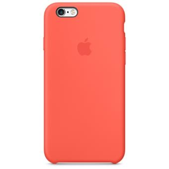 Coque en silicone Apple pour iPhone 6s Abricot