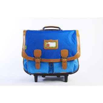 cartable trolley tann 39 s classic bicolore bleu fonc bleu clair 41 cm cartable sac dos. Black Bedroom Furniture Sets. Home Design Ideas