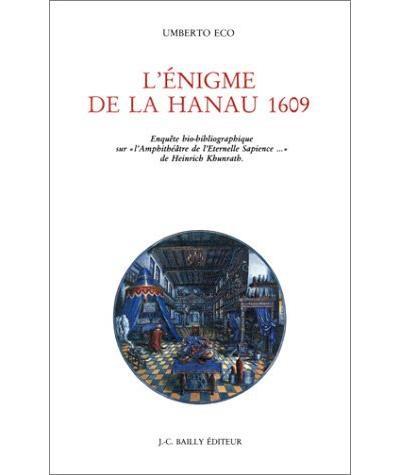 L'enigme de la Hanau 1609