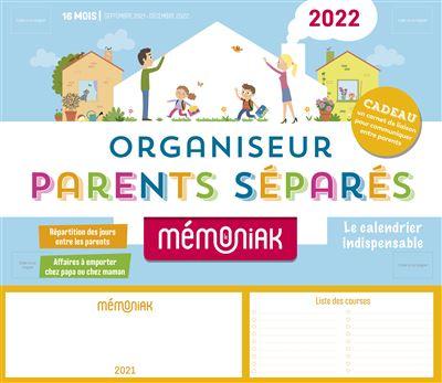 Calendrier Parents Divorcés 2022 Organiseur Parents séparés Mémoniak 2021 2022   Collectif   Achat