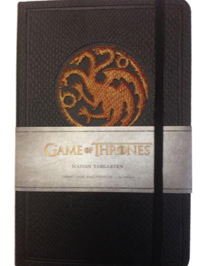 Le trône de fer, carnet de luxe maison Targaryen