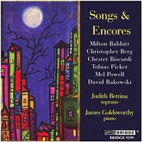 Songs and encores a recital of american song