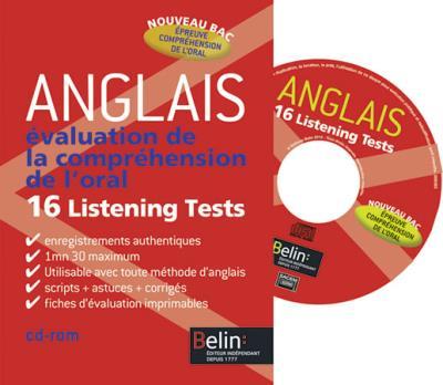 Anglais - Évaluation de la compréhension à l'oral