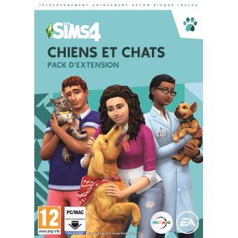 50 sur pack d 39 extension the sims 4 chiens et chats pc jeux vid o achat prix fnac. Black Bedroom Furniture Sets. Home Design Ideas