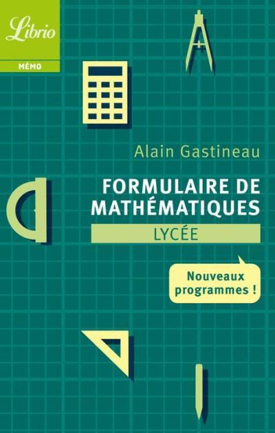 Formulaire de mathématiques - Lycée - 9782290111086 - 2,99 €