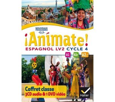 Animate Espagnol Cycle 4 éd. 2016 - Coffret CD Audio DVD