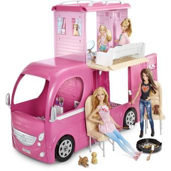 poup e barbie avec accessoires camping car duplex poup e achat prix fnac. Black Bedroom Furniture Sets. Home Design Ideas