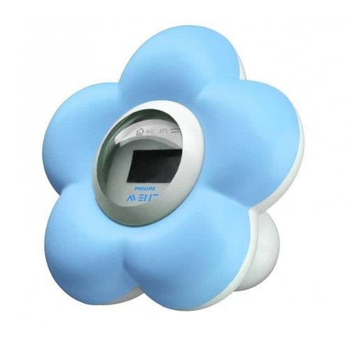 Thermomètre numérique bain et chambre pour bébé Philips Avent Bleu