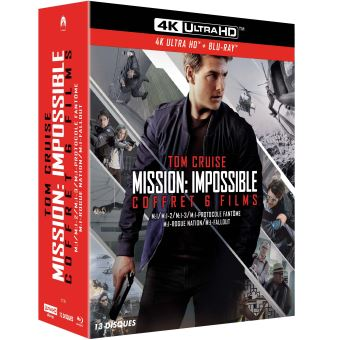 Mission : Impossible  Les FilmsMission : Impossible L'intégrale 6 Films Edition Fnac Coffret  Blu-ray 4K Ultra HD