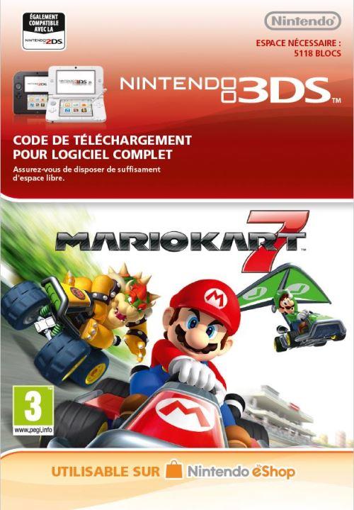 Code de téléchargement Mario Kart 7 Nintendo 3DS