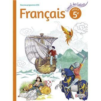 L'envol des lettres, Français 5ème, Cycle 4