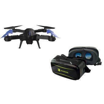 Drone MiDrone Vision 220 HD WiFi FPV + Casque de réalité virtuelle + Etui