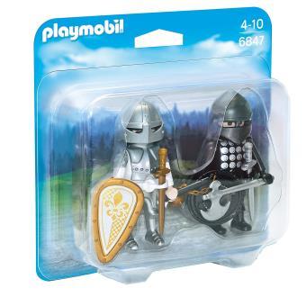 Playmobil 6847 Chevalier noir et chevalier d'argent