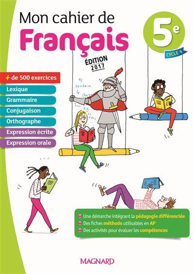 Mon Cahier De Francais 5eme Pdf Epub Telecharger Des