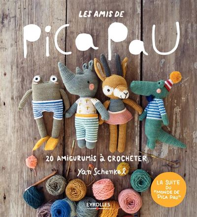 Les amis de Pica Pau - 20 amigurumis à crocheter - 9782212406795 - 12,99 €