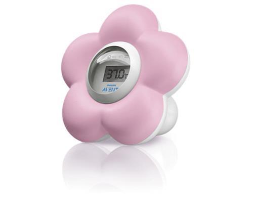 Thermomètre numérique bain et chambre pour bébé Philips Avent Rose