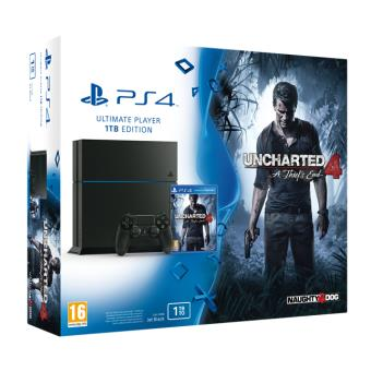 Console PS4 Sony 1 To Noire + Uncharted 4
