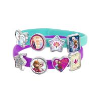 Set de 3 bracelets avec 18 breloques Charms La Reine des Neiges Frozen