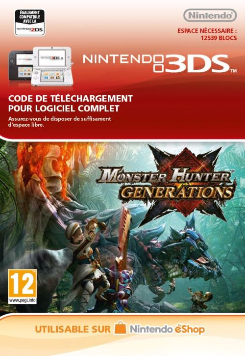 Code de téléchargement Monster Hunter Generations Nintendo 3DS