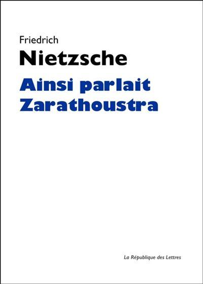 Ainsi parlait Zarathoustra - 9782824903194 - 4,99 €