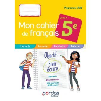 Mon Cahier De Francais 5e 2019 Cahier De L Eleve