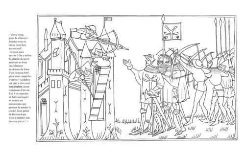 Chevaliers Le Moyen Age à Colorier