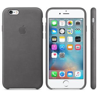 Coque en cuir Apple pour iPhone 6s Gris orage