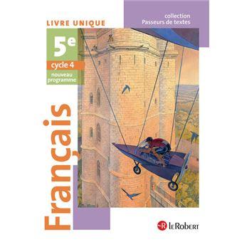 Francais 5eme Eleve Passeurs De Textes Cycle 4 2016