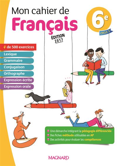 Mon cahier de français 6ème