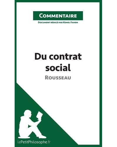 Du contrat social de Rousseau