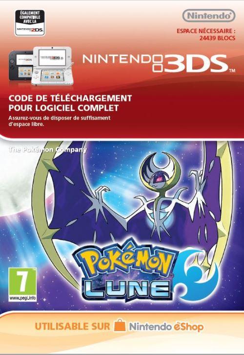 Code de téléchargement Pokémon Lune Nintendo 3DS