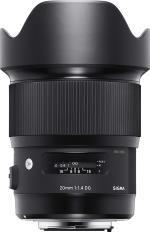 SGMA Objectif Sigma Art 20 mm f/1.4 DG HSM Noir pour Canon