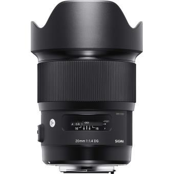 Sigma Art Lens 20 mm f / 1.4 DG HSM zwart voor Canon