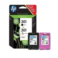 Pack HP N9J72AE 301 deux encreurs Noir et Couleur