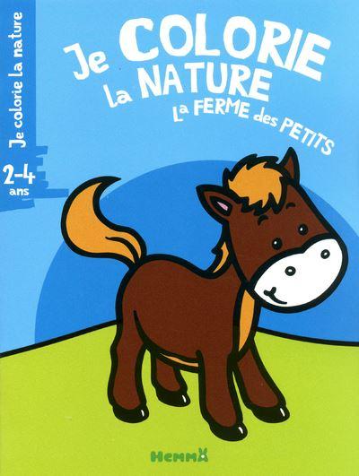 Je colorie la nature la ferme des petits 2-4 ans (cheval)