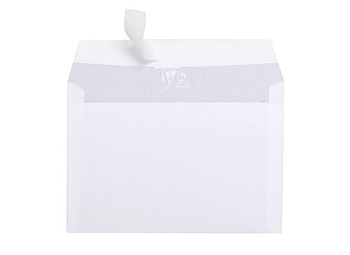 20 enveloppes autoadhésives à fenêtre Clairefontaine 114x162mm 80g
