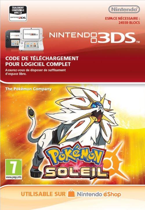 Code de téléchargement Pokémon Soleil Nintendo 3DS