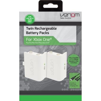 Venom twin rechargeable battery packs for XONE WHITE