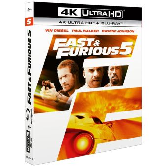 Fast and FuriousFast and Furious 5 Blu-ray 4K Ultra HD
