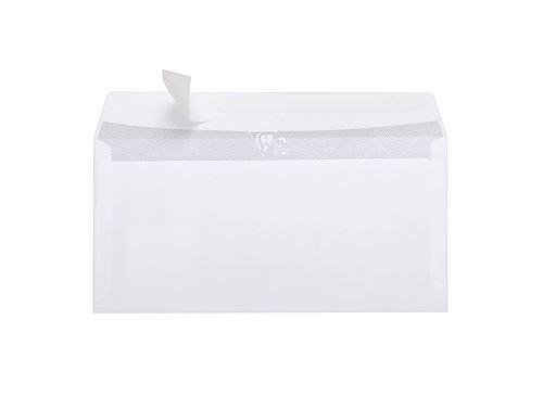 25 enveloppes autoadhésives à fenêtre Clairefontaine 110x220mm 80g