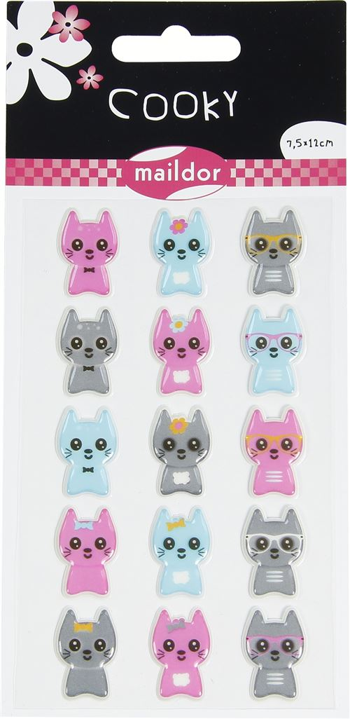 Stickers Maildor Cooky Petits chats